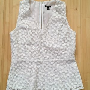 Ann Taylor embroider shell